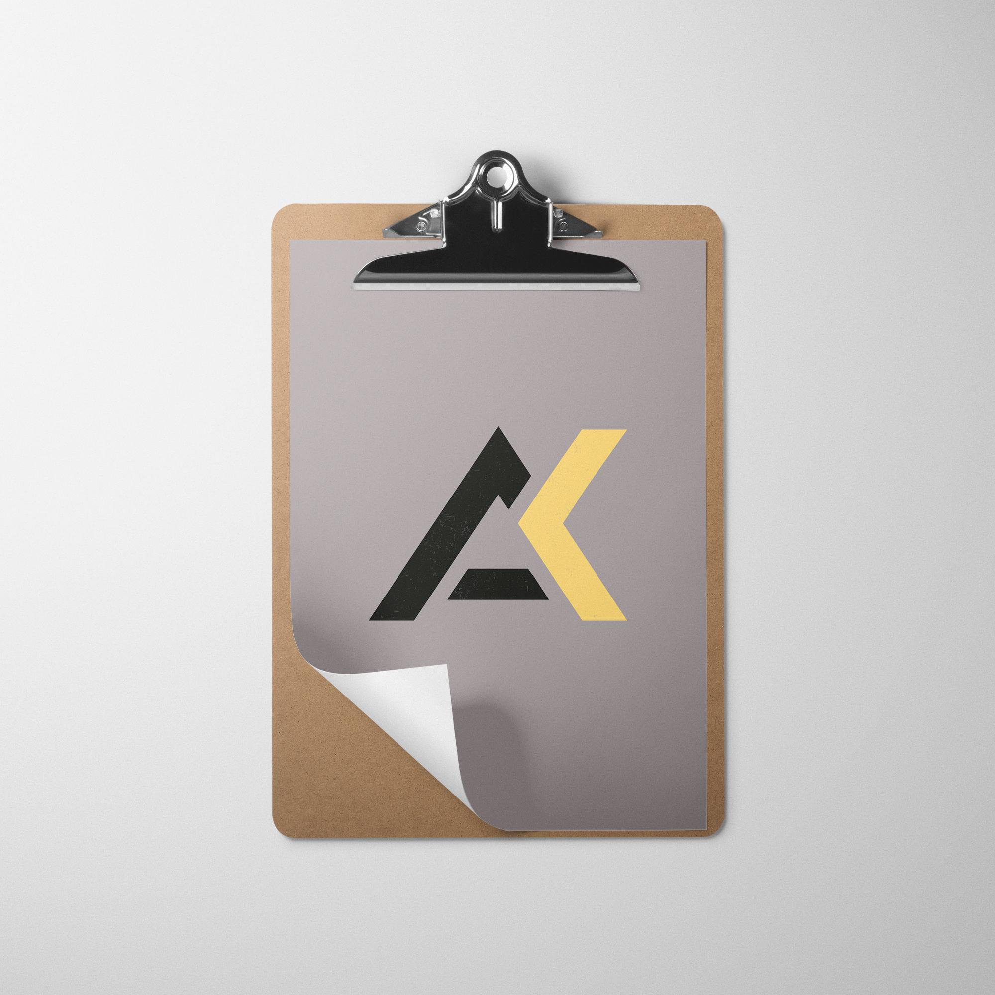 Alexandros Kandias logo on a binder