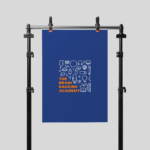 The Brain Hacking Academy logo hanging on a banner