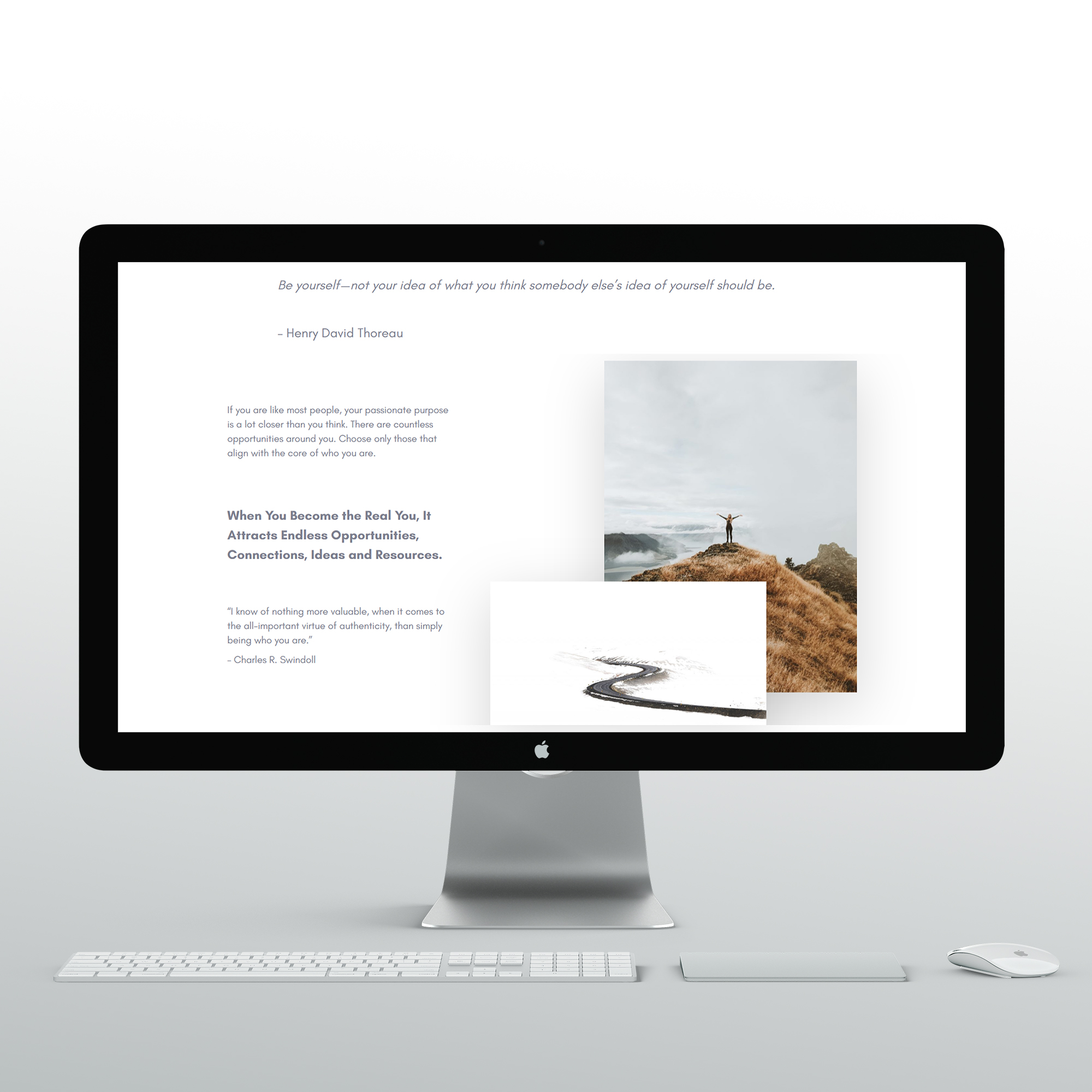 An iMac with part of Dare to Change website